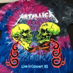 Metallica Band T-Shirt Tie-Dye Medium